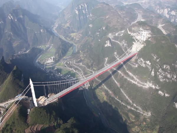 [湖南]特大悬索桥关键技术与创新施工图片