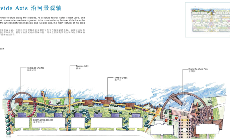 天津大学风景园林考研-总平面图方案参考