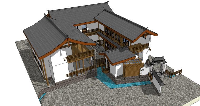 中式古建筑-29个古建古建民居房类