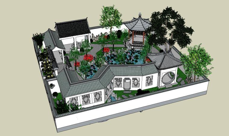 古建筑-古建古典园林SU模型