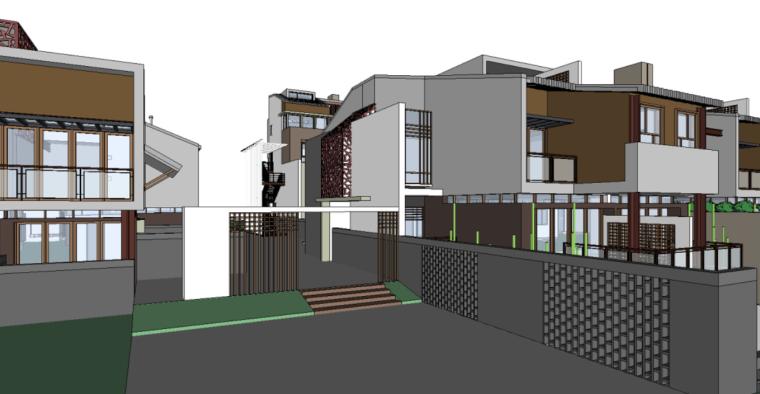 89个新中式徽派建筑风格SU模型_4