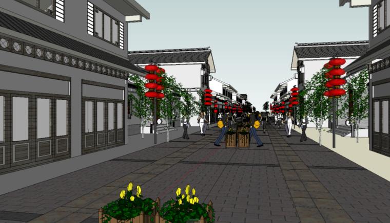 89个新中式徽派建筑风格SU模型_9