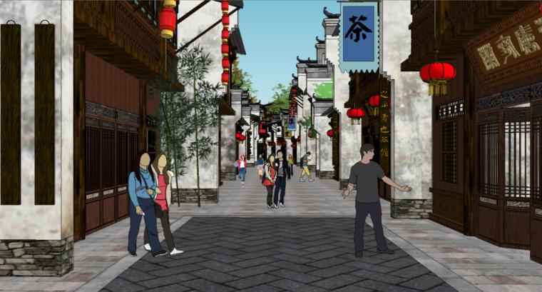 89个新中式徽派建筑风格SU模型_6