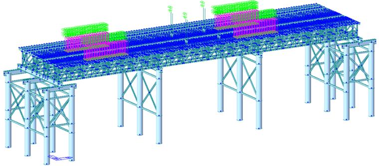 特大桥钢栈桥/施工平台/围堰受力计算_1