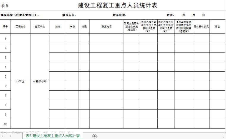 新冠病毒防疫期间各类台帐样表大汇总_Excel_1