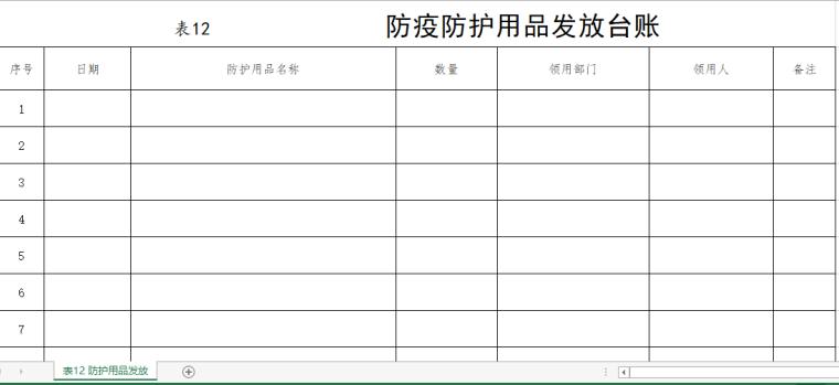 新冠病毒防疫期间各类台帐样表大汇总_Excel_3
