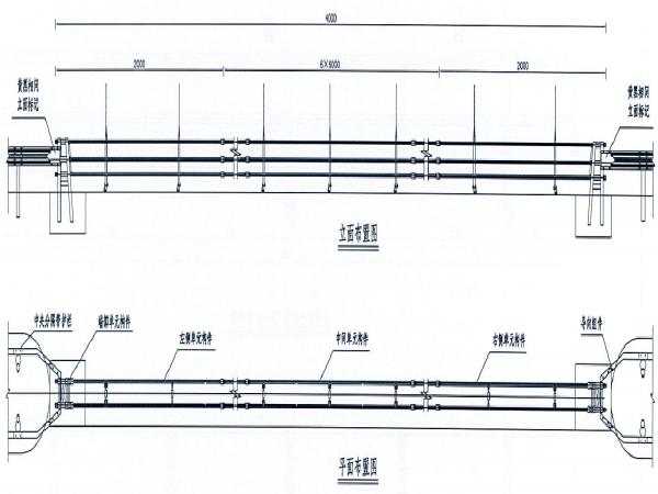 高速中分带开口护栏改造及防撞垫安装施工图