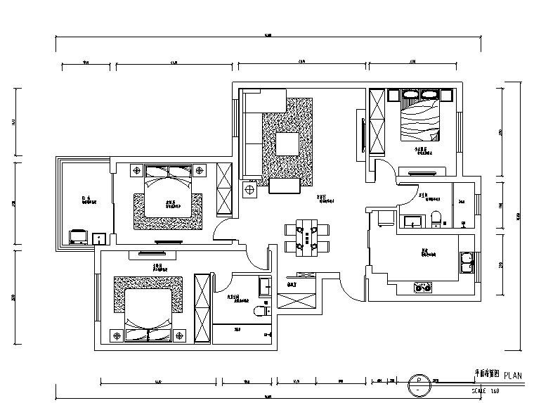 家装大户型装修预算表(带图纸)
