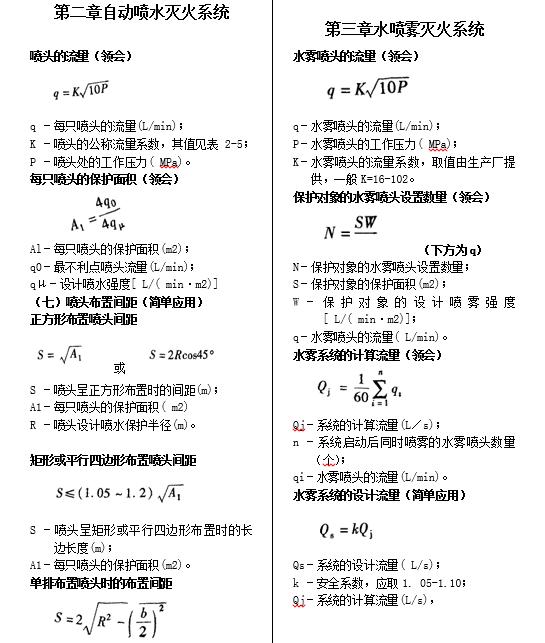 消防设施计算公式_2