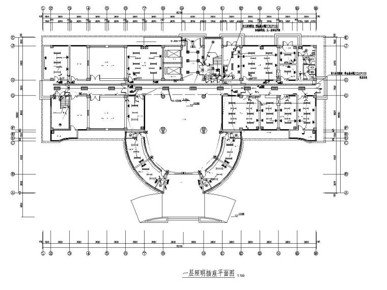 八层综合医院全套电气图纸