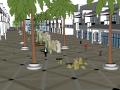 现代景观商业街SU模型设计