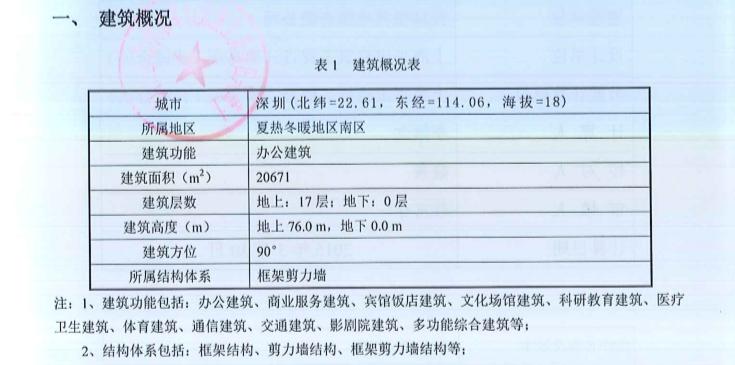 [深圳]公共建筑节能设计计算书_报绿建
