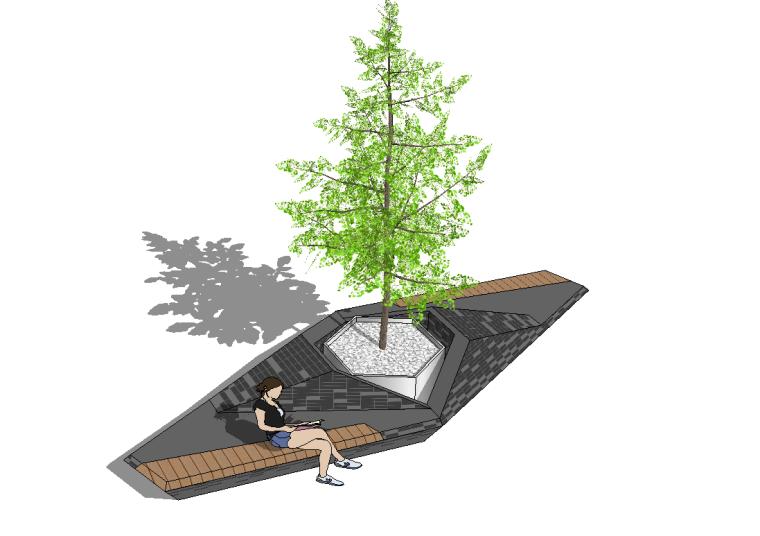 52组树池座椅SU模型设计(一)_4