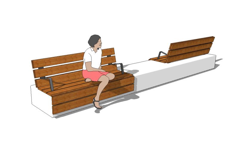 96组户外创意简易坐凳SU模型设计_4