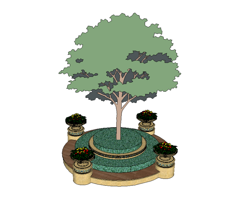52组树池座椅SU模型设计(一)_8