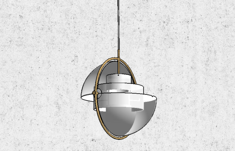 20组后现代北欧吊灯SU模型设计_4