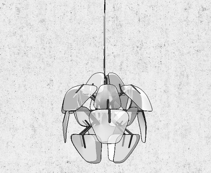 20组后现代北欧吊灯SU模型设计_7