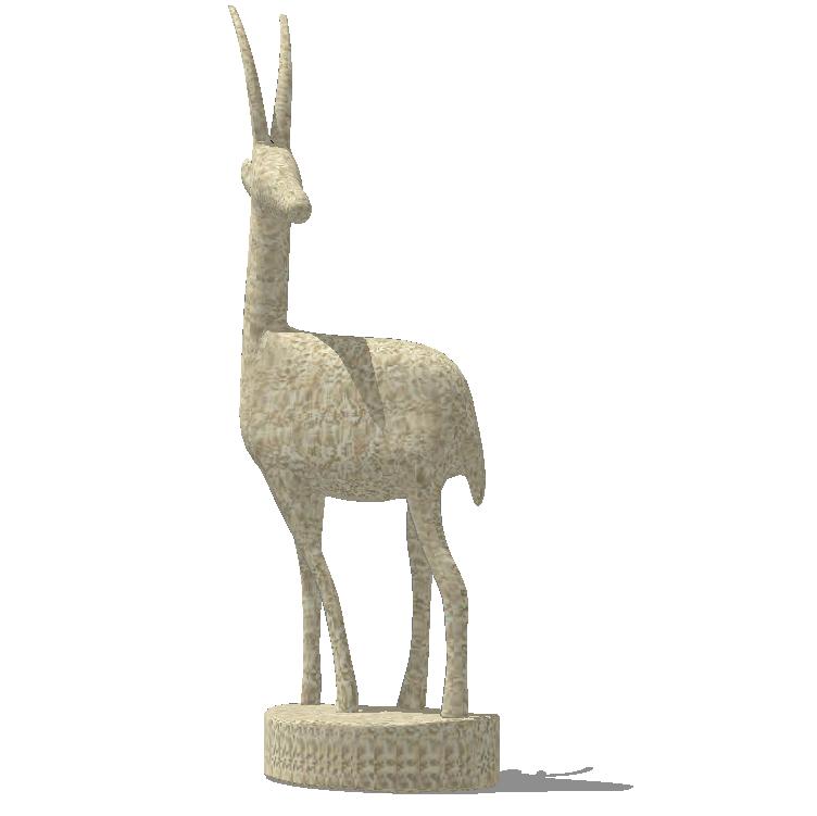 41组创意动物群羊小鹿鹿群雕塑小品SU模型_6
