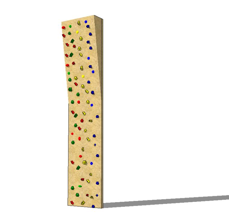 5组儿童乐园游乐场设施设备-蹦蹦床攀岩墙篇_4
