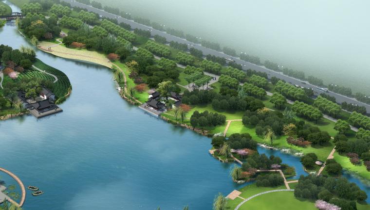 """[安徽]""""静""""主题生态滨河公园景观方案设计_4"""