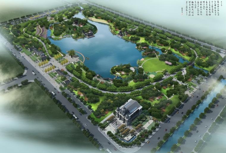 """[安徽]""""静""""主题生态滨河公园景观方案设计_1"""