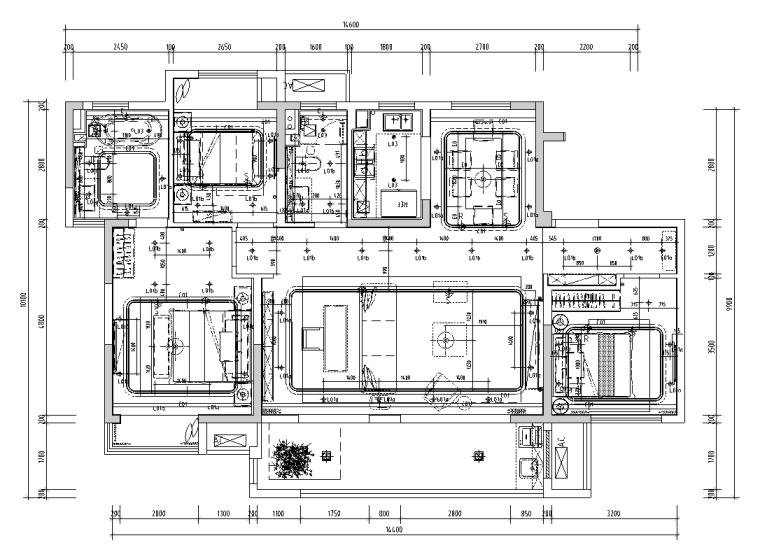 [江苏]无锡锡北金茂府高层143户型施工图_5