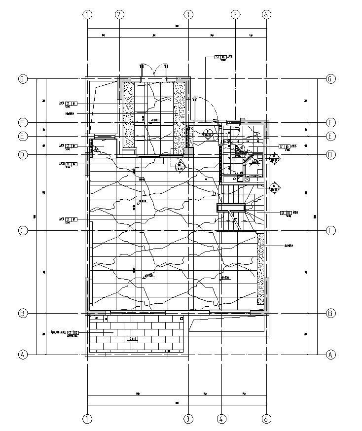 [江苏]无锡锡北金茂府下叠户型样板房施工图_2
