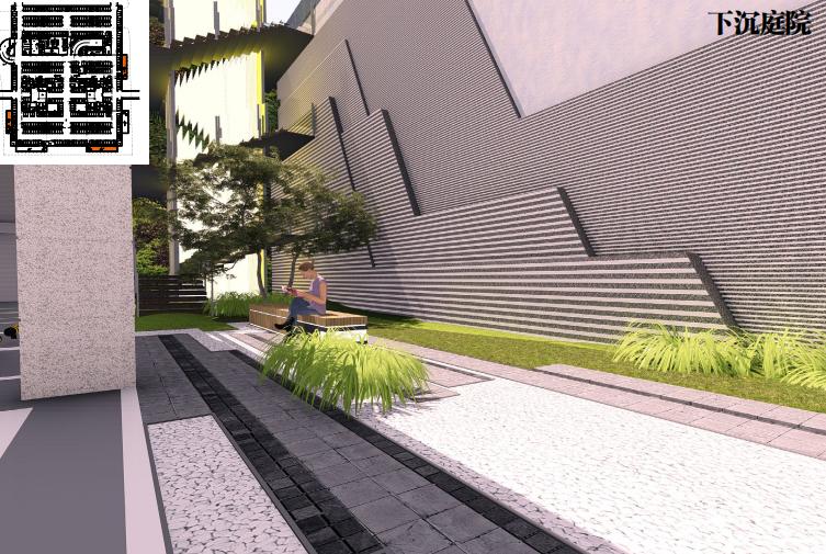 """[湖北]某大楼""""禅""""概念下沉庭院景观方案_3"""