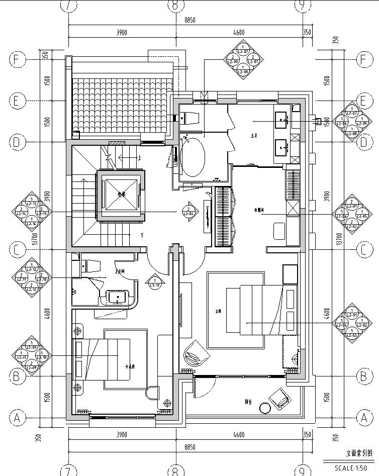 [北京]现代阁楼多层别墅设计施工图_效果图_5