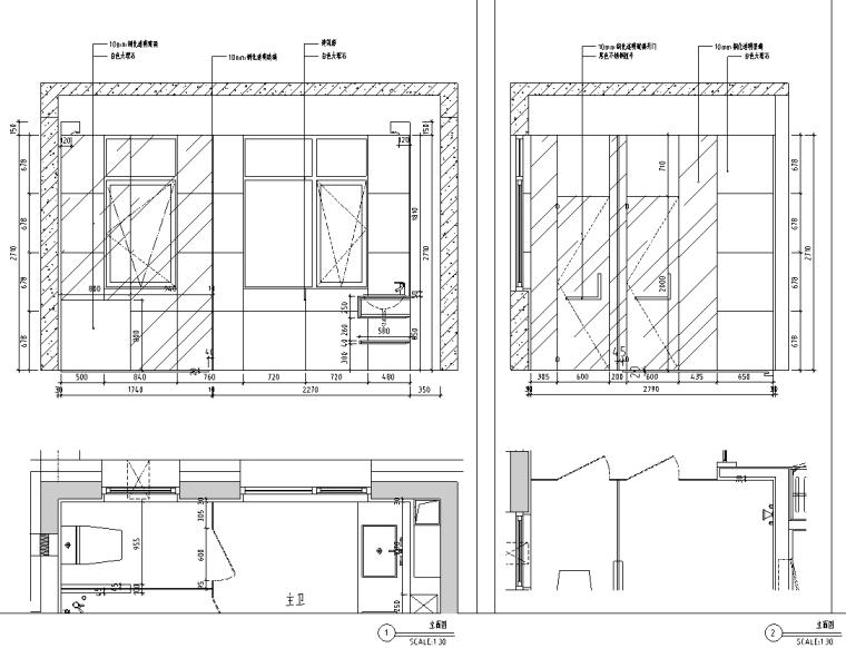 [北京]现代阁楼多层别墅设计施工图_效果图_7