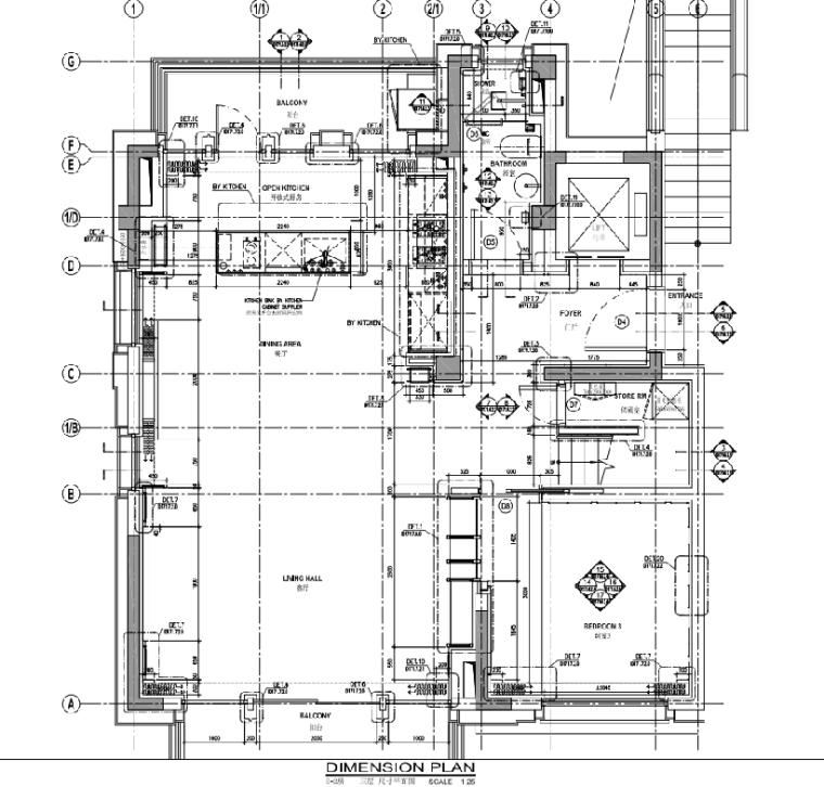 [上海]静安府叠层E2户型别墅施工图_效果图_1