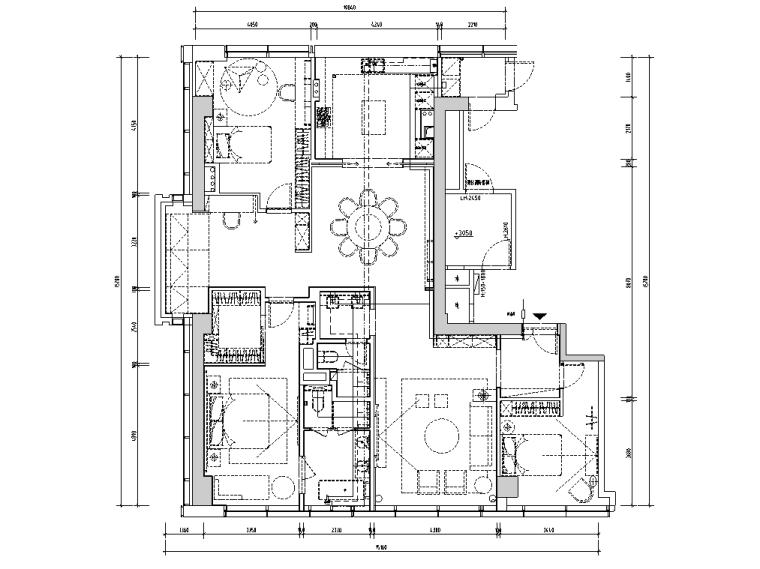[浙江]杭州220m²现代极简样板间施工图_3D_6