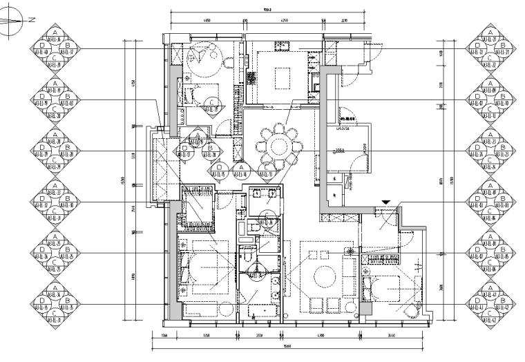 [浙江]杭州220m²现代极简样板间施工图_3D_7