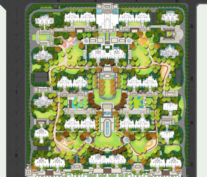 知名企业现代欧式居住区景观彩平图PSD+CAD_1