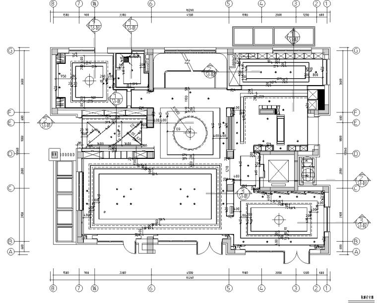[北京]750㎡中式四层五居住宅施工图_效果图_3