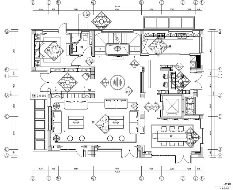 [北京]750㎡中式四层五居住宅施工图_效果图_6