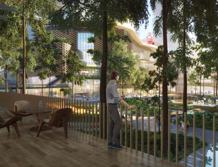 南京林业大学广场设计资料下载-[重庆]中式商业街区广场景观设计方案文本
