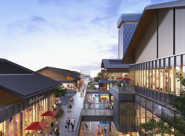 四川新中式多功能复合商业综合体建筑方案-透视图