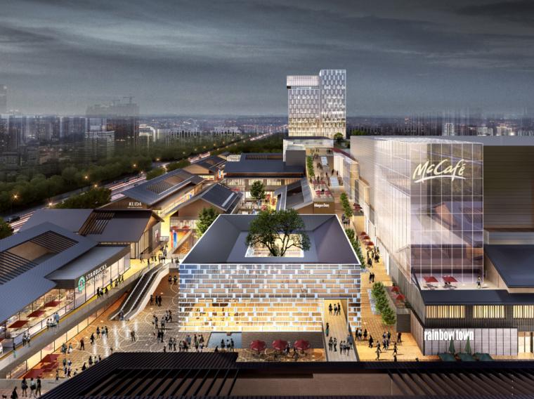 四川新中式多功能复合商业综合体建筑方案-01 效果图