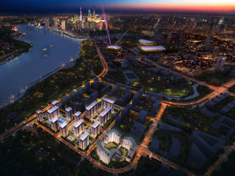 [上海]高端滨江豪宅租赁住宅建筑概念方案-沿街透视