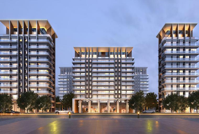 [上海]高端滨江豪宅租赁住宅建筑概念方案-01 鸟瞰图