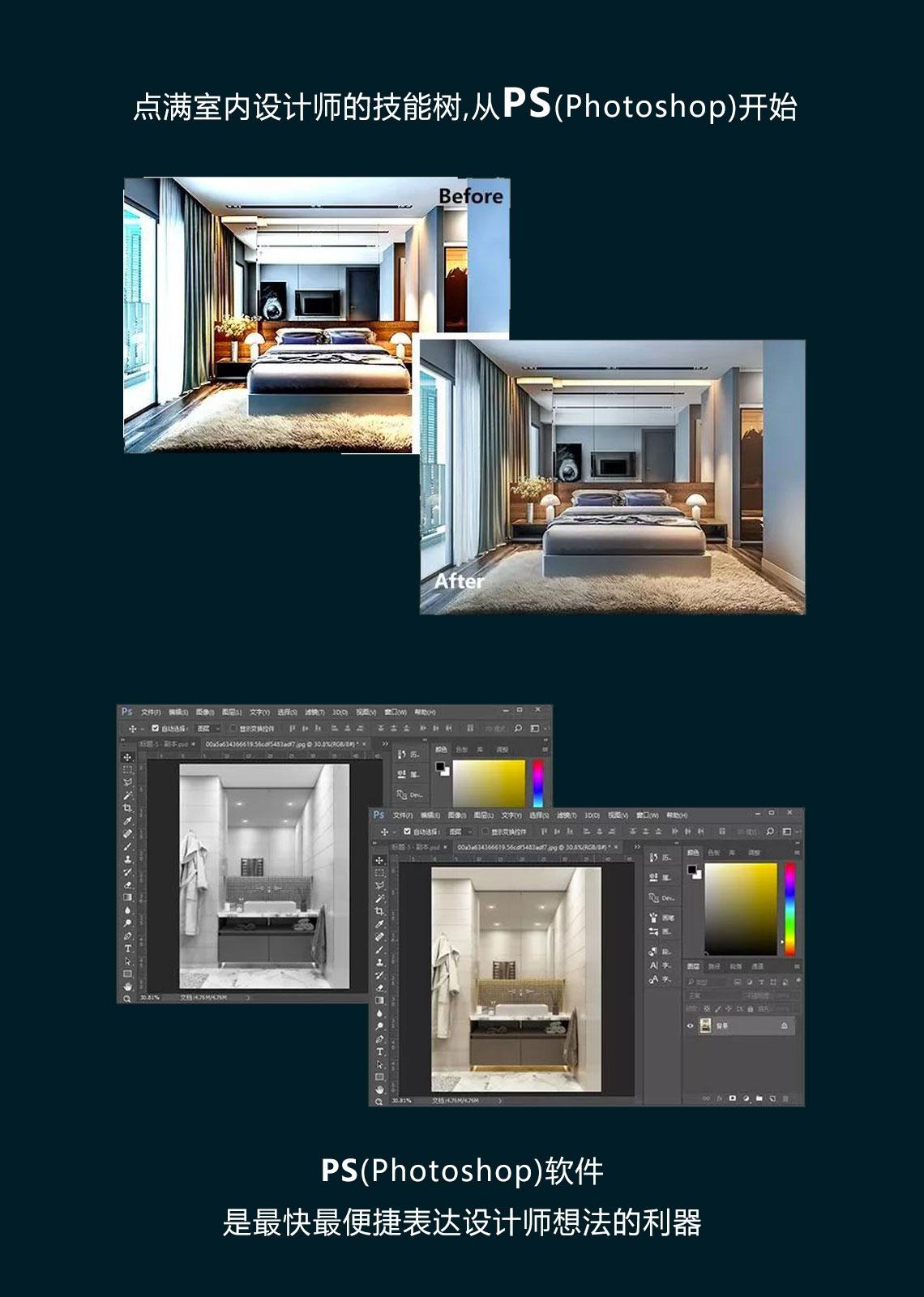 PS的强大功能,室内设计软件,室内设计,室内设计要学哪些,室内设计培训,室内设计师,教育培训,室内装修效果图,室内设