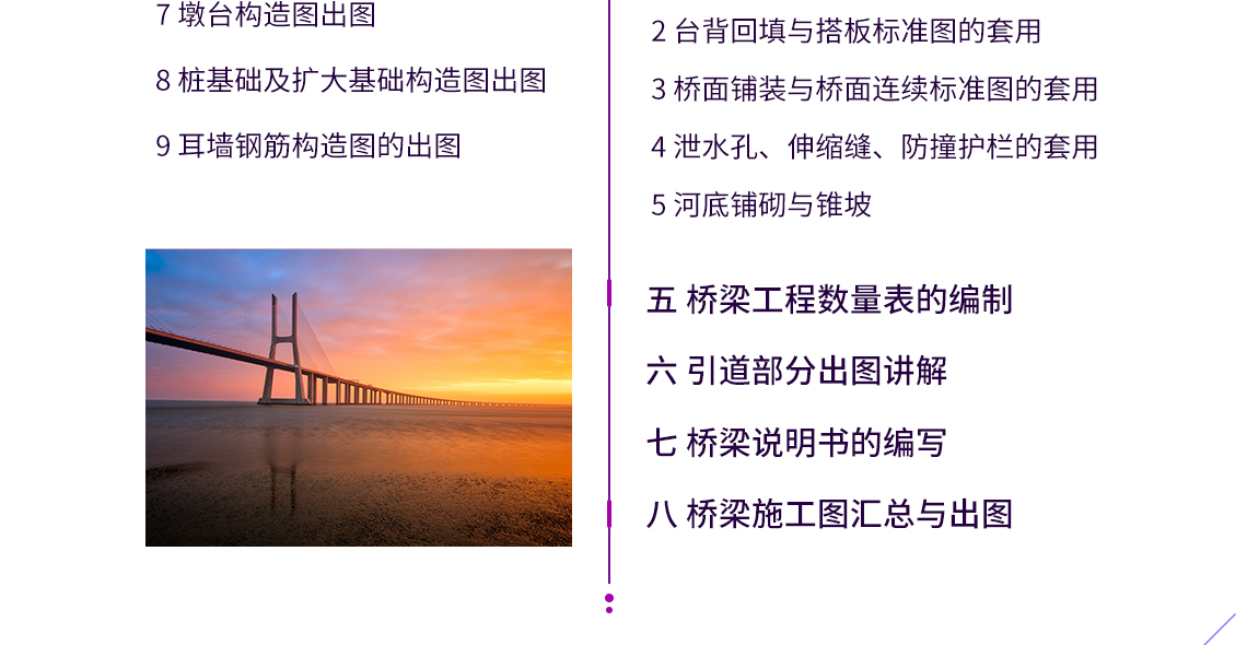 针对桥梁设计出图步骤,精讲空心板桥梁构造图出图,桥梁大师软件出图,出一套完整的空心板桥梁CAD图纸,使用纬地道路设计软件、太乐地图、桥梁大师软件等。展示桥梁施工图设计全过程。
