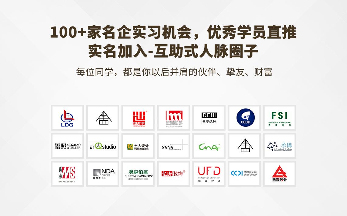 100家名企实习机会,优秀学员直接内推实名加入。