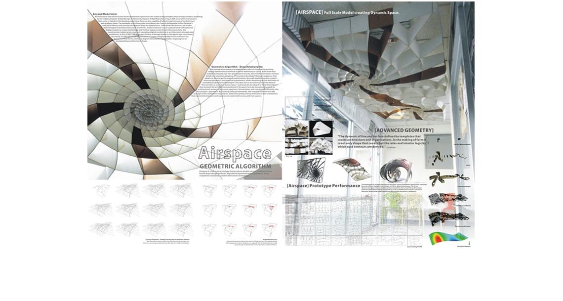 一个超大的灯罩的设计,只是为了符合走廊的设计。  自然形态的设计, 建筑改造设计,商业改造,材料市集