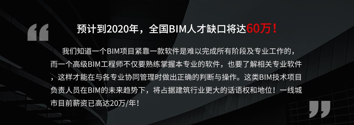 现阶段,BIM人才紧缺,全国BIM人才缺口近60W,抓紧学习BIM软件实操,成为BIM项目负责人,做出满意的施工工艺动画,BIM成果汇报展示视频。