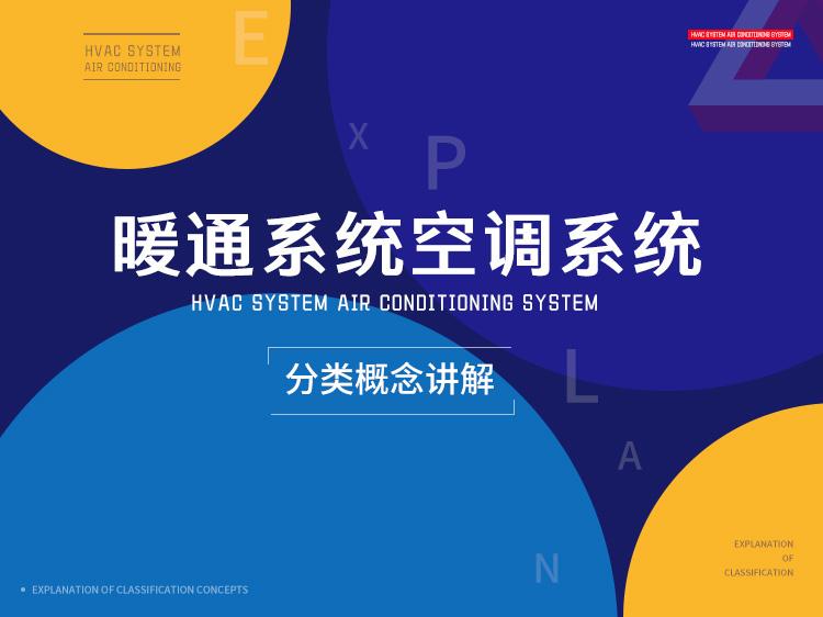 暖通系统和空调系统分类概念讲解