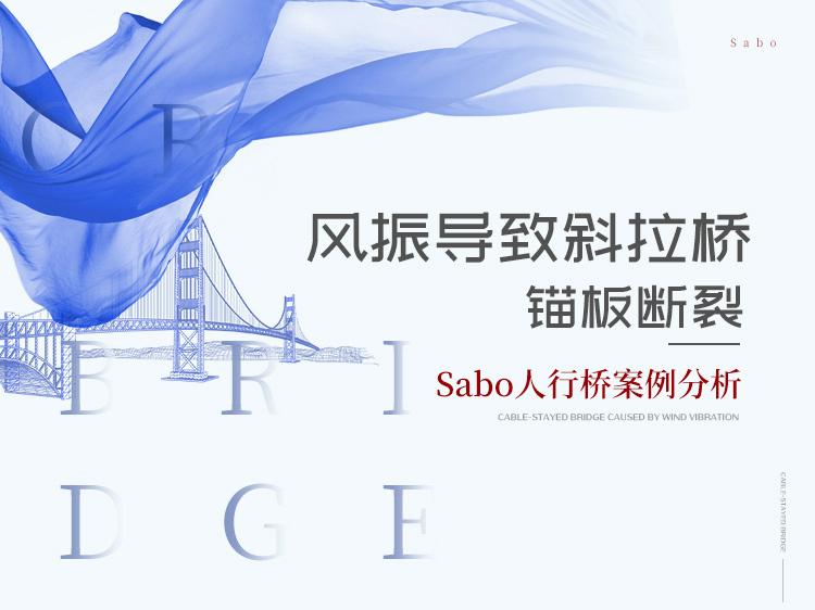 风振导致斜拉桥锚板断裂-Sabo人行桥