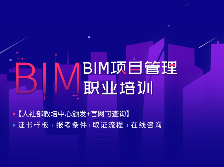 2019年BIM项目管理职业培训
