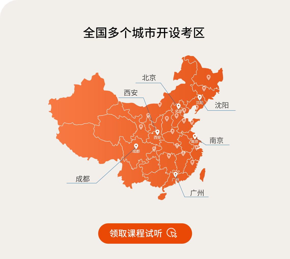 园林景观考试,景观设计证书目前有6个考点。北京, 广州,南京,沈阳,西安,成都